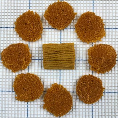 Medium Gold Pre-cut Latch Hook Yarn