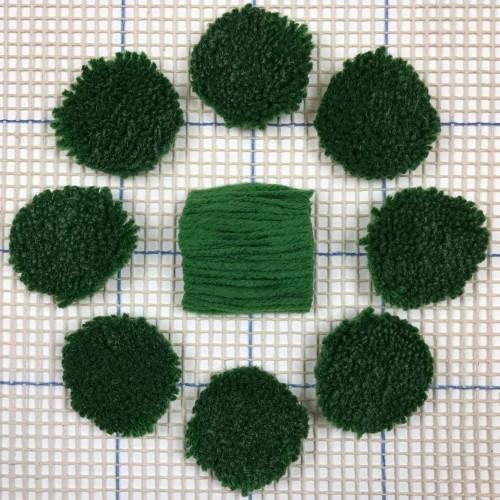 Dark Green Pre-cut Latch Hook Yarn
