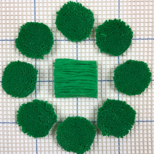 Bright Green Pre-cut Latch Hook Yarn