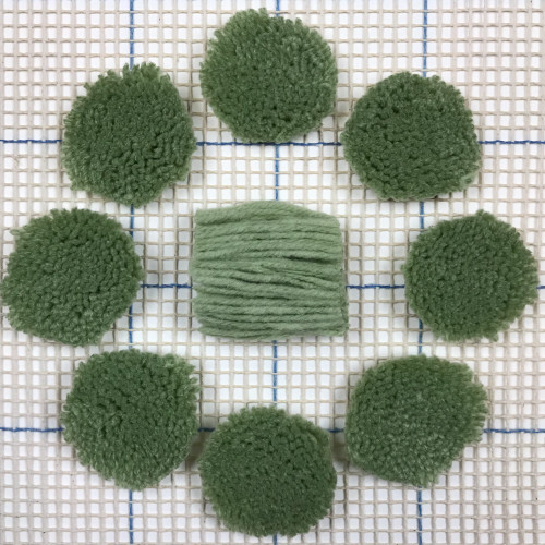 Light Forest Green Pre-cut Latch Hook Yarn