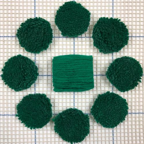 Green Pre-cut Latch Hook Yarn