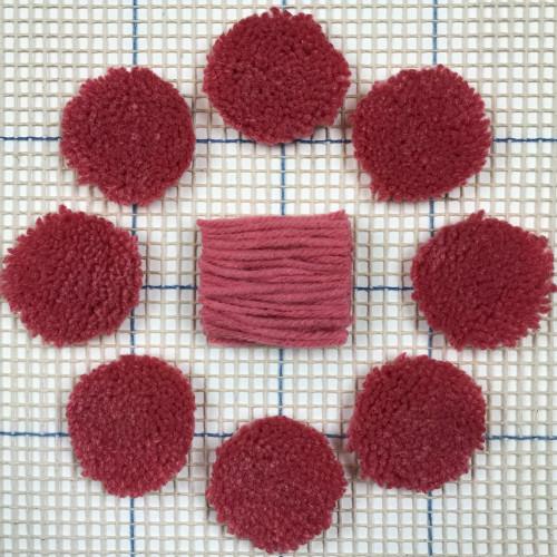 Bright Pink Pre-cut Latch Hook Yarn