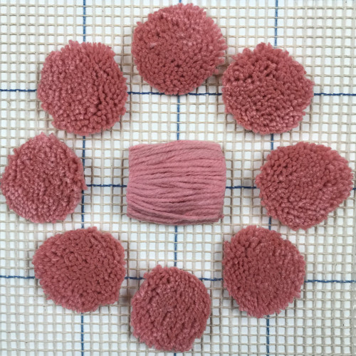 Pink Pre-cut Latch Hook Yarn