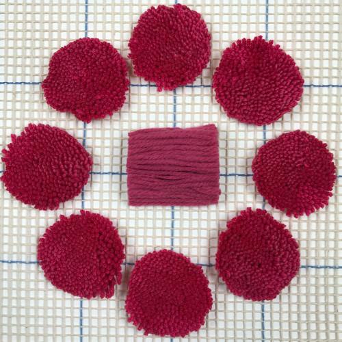 Dark Pink Pre-cut Latch Hook Yarn