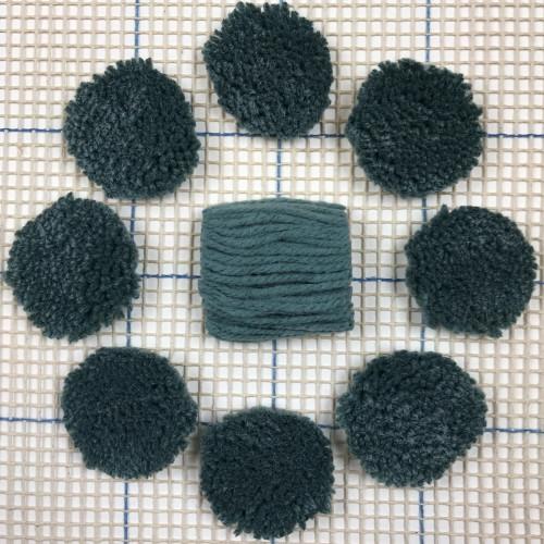 Blue Grey Pre-cut Latch Hook Yarn