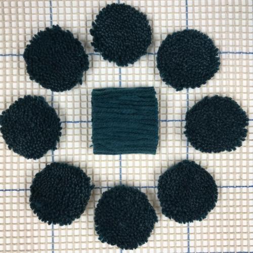 Dark Blue Grey Pre-cut Latch Hook Yarn