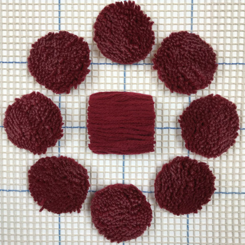 Light Burgandy Pre-cut Latch Hook Yarn