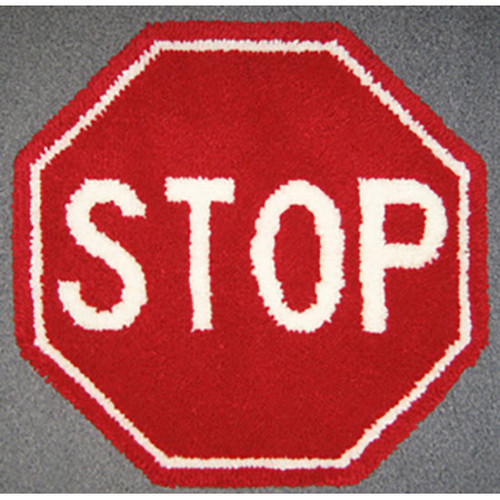 Stop Sign Latch Hook Rug