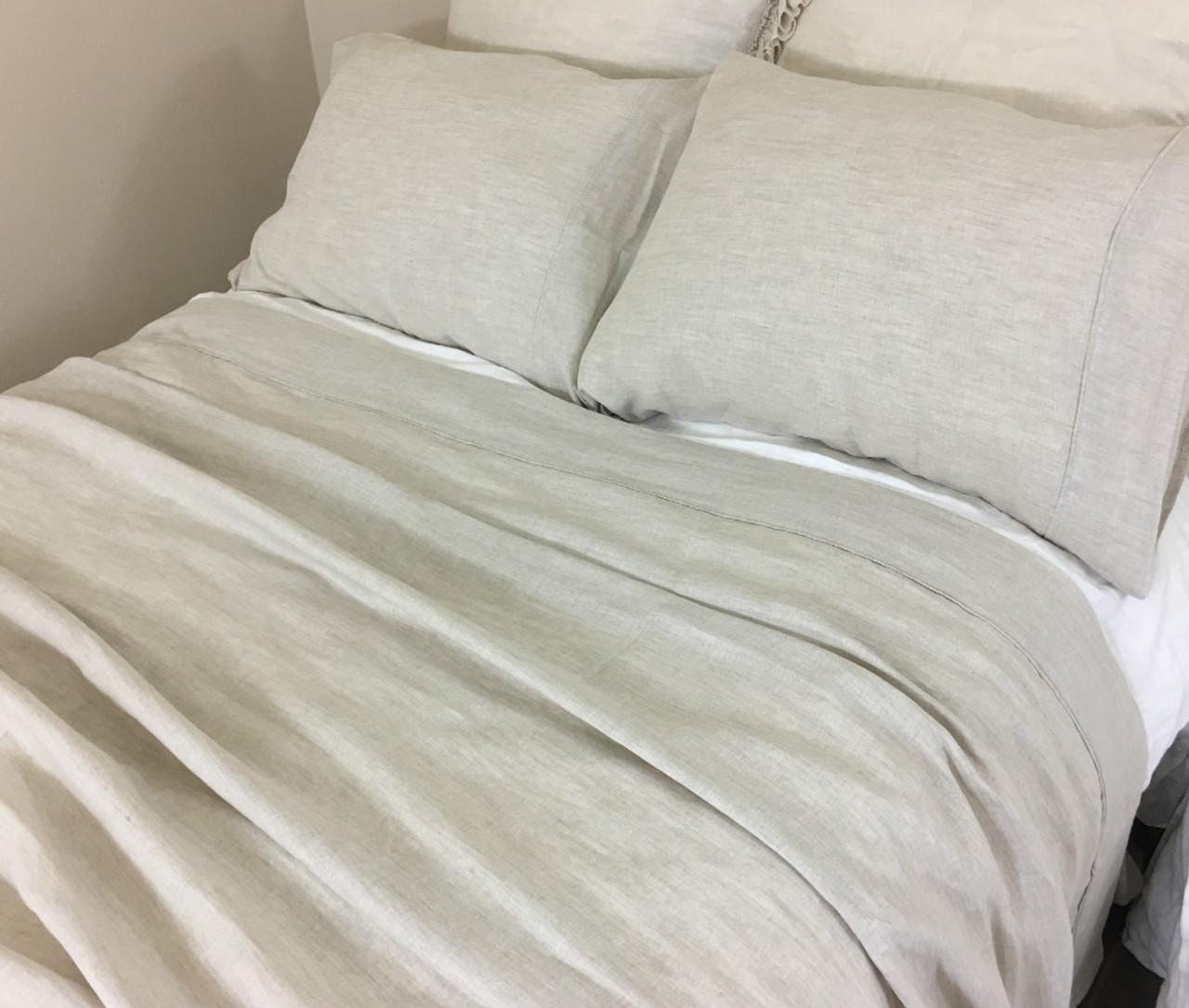 Natural Linen Sheets Set No Dye No Coloring