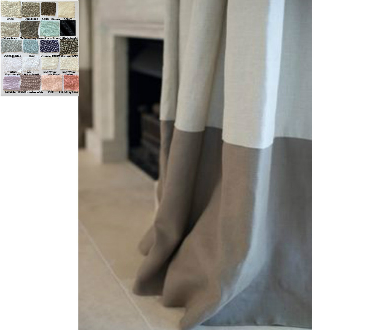 Color Block Curtains Multiple Colors Custom Size