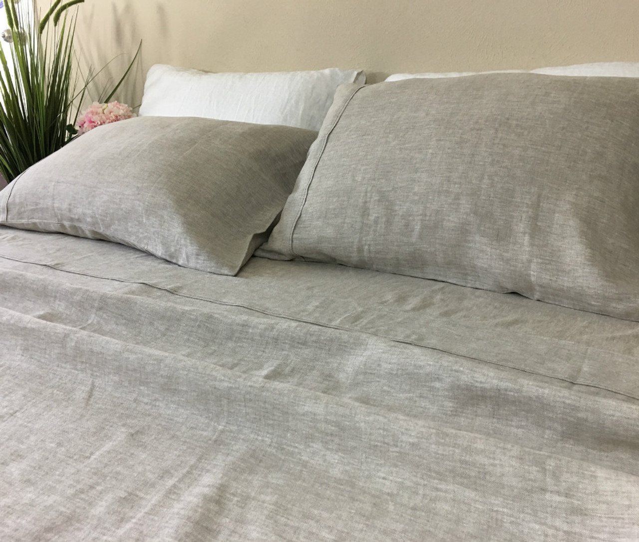 Natural Linen Sheets Set   Medium Weight Linen