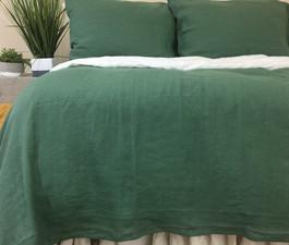 Moss Green Linen Duvet Cover Warm And Cozy