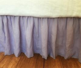 Stone Gray Ticking Stripe Bed Skirt Ticking Stripe Dust