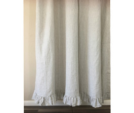 grey and white striped shower curtain. Grey And White Striped Shower Curtain With Ruffle Hem 2 Tiered Mermaid Ruffles