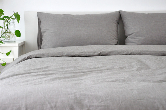 Linen Duvet Cover Grey Handcrafted By Superiorcustomlinens