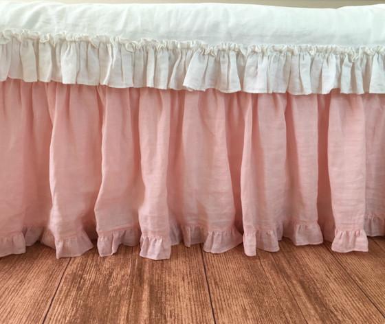 Pink Bedskirt Twin Queen King California Ruffle