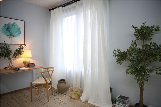 Natural Linen Sheer Curtains In White, White Sheer