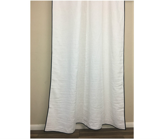Linen Curtains Finished With Trim 40 Fabric Choices