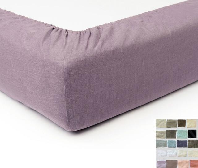 Linen Box Spring Cover Bed Skirt Alternative White