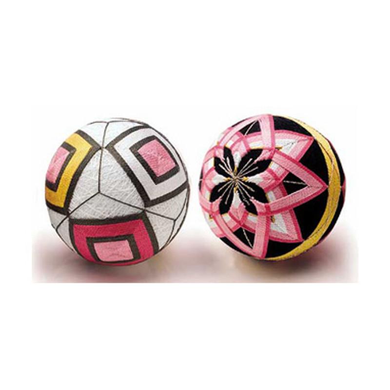 2 Temari Ball with English Instructions TM-1