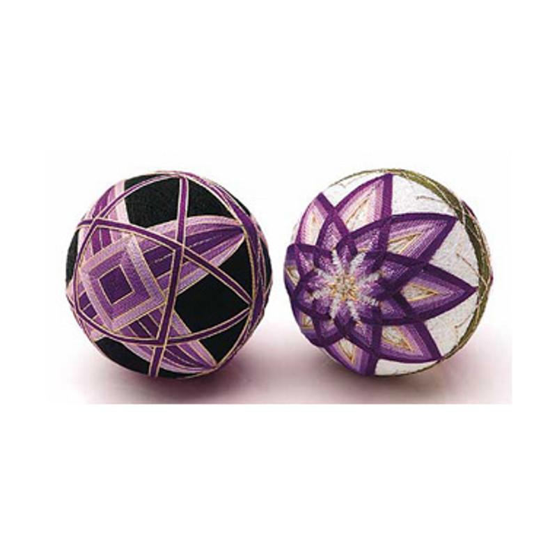 2 Temari Balls with English Instructions TM-2