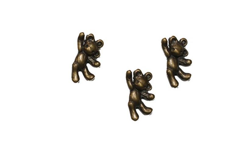 3 Bear Metal Zip-Pulls FK52-AG