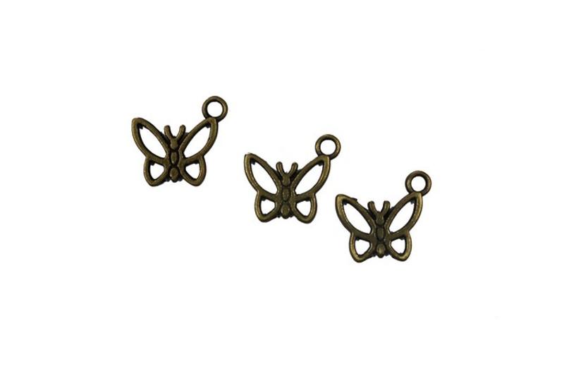 3 Butterfly Metal Zip-Pulls FK46-AG