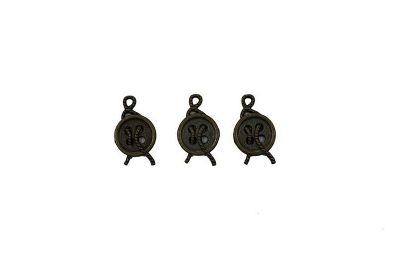 3 Button Metal Zip-Pulls FK51-AG