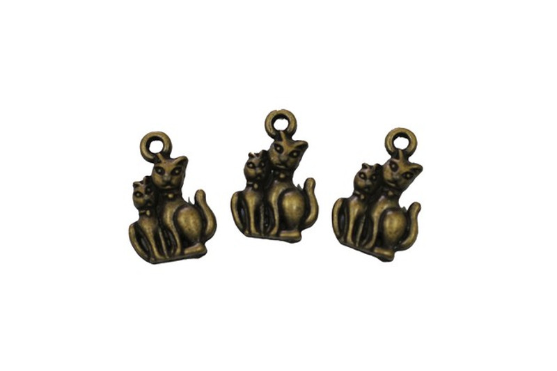 3 Cats Metal Zip-Pull FK13-AG