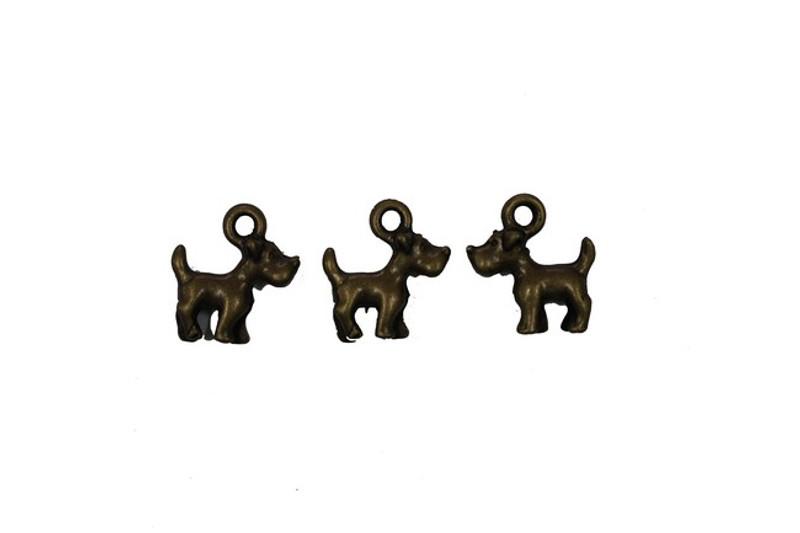 3 Dogs Metal Zip-Pull FK14-AG