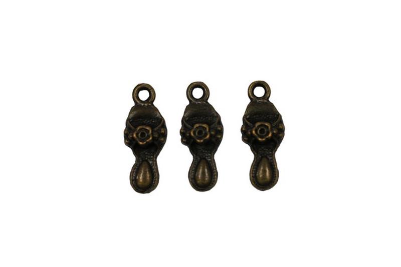 3 Slipper Metal Zip-Pulls FK18-AG