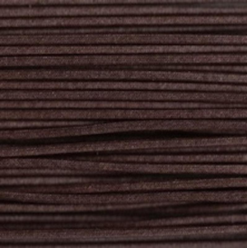 Waxed Cotton Cording Dark Brown WCC-25