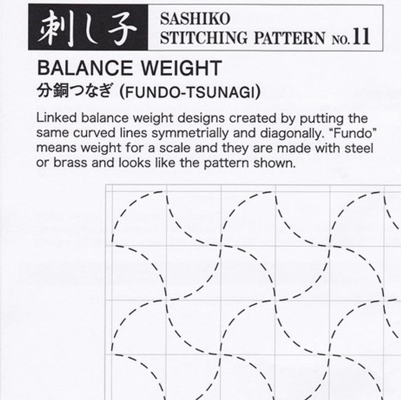 Sashiko Stitching Pattern Balance Weight (Fundo-Tsunagi) PSS-11