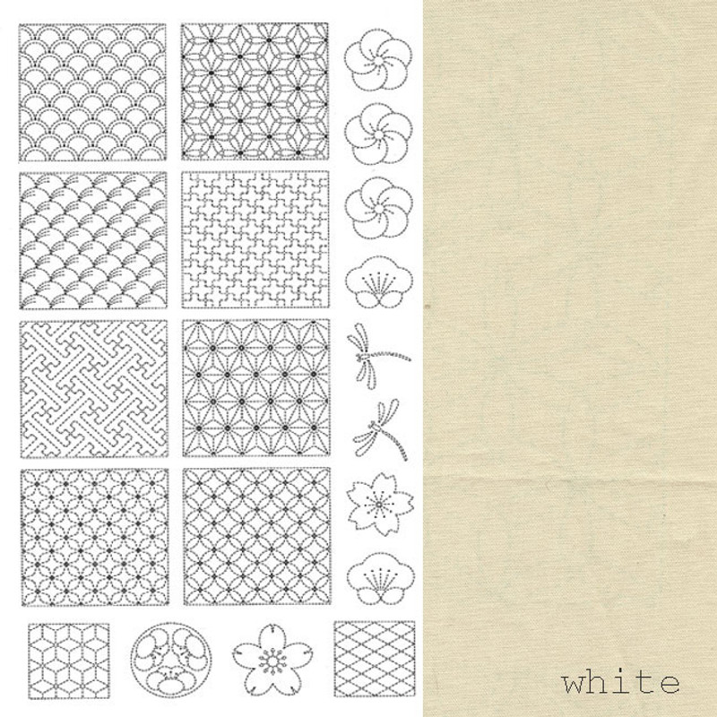Sashiko Panel from BeBe Bold  1 Off-White BBSP1-0001