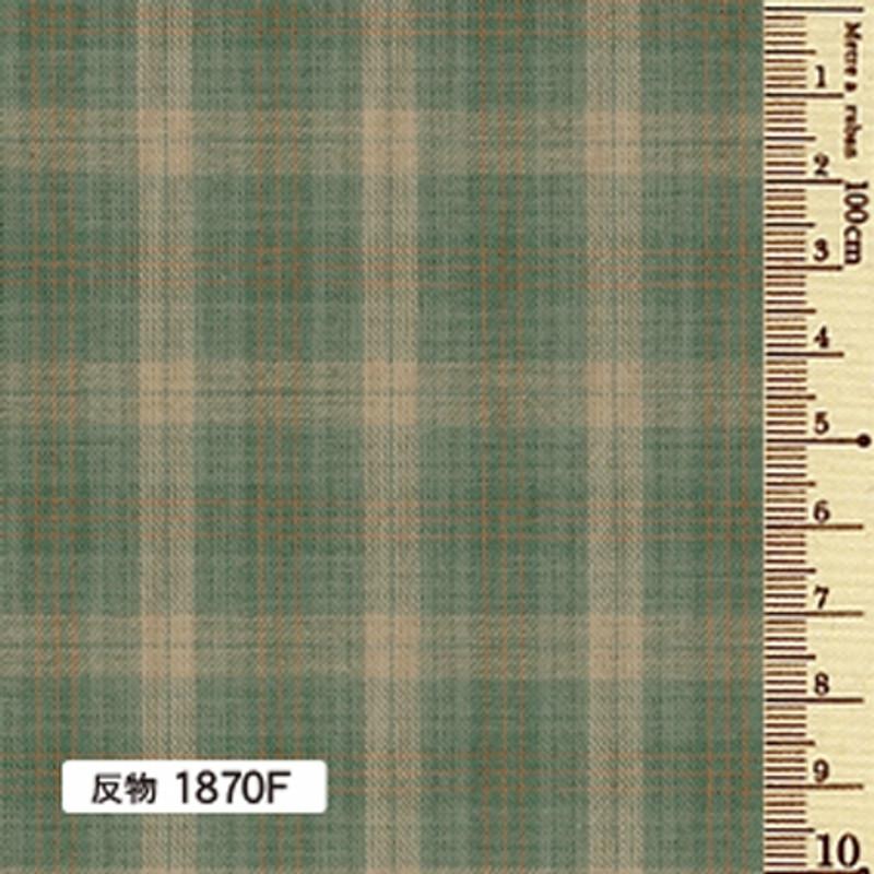 Sakizome Momen Yarn Dyed Fabric Caramel Check F 1870F