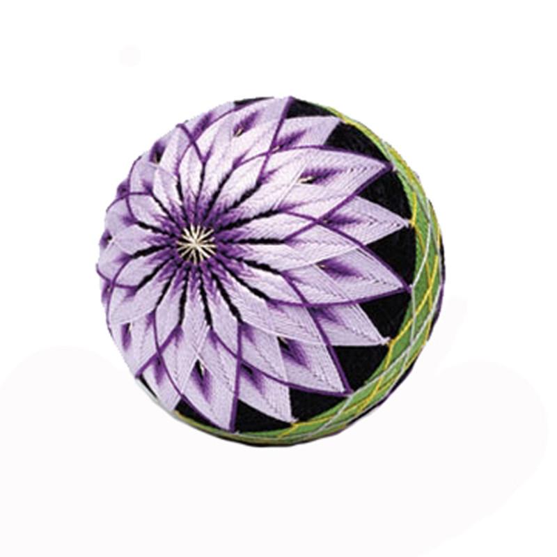 Chrysanthemum Single Ball Temari Kit with English Instructions TM-7