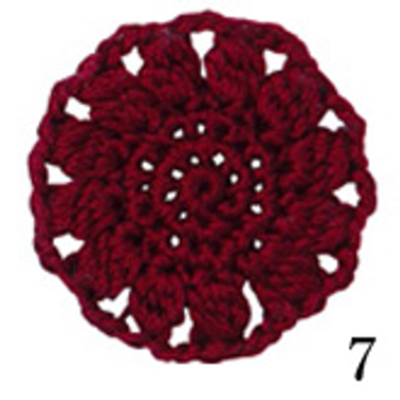 Crochet Thread Cotton Cuore Dark Red CC-7