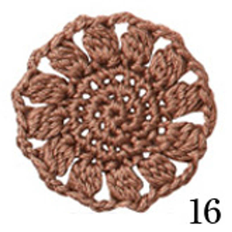 Crochet Thread Cotton Cuore Light Brown CC-16