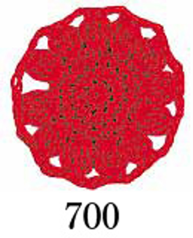 Crochet Thread Emmy Grande Solid Bright Red EGS-700