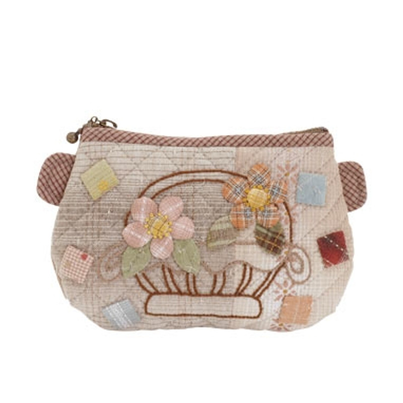 Olympus Patchwork Kit Flower Basket Purse PA-618