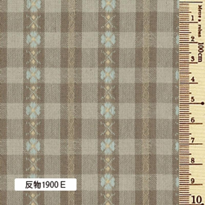 Sakizome Momen Yarn Dyed Fabric Flower Check E 1900E