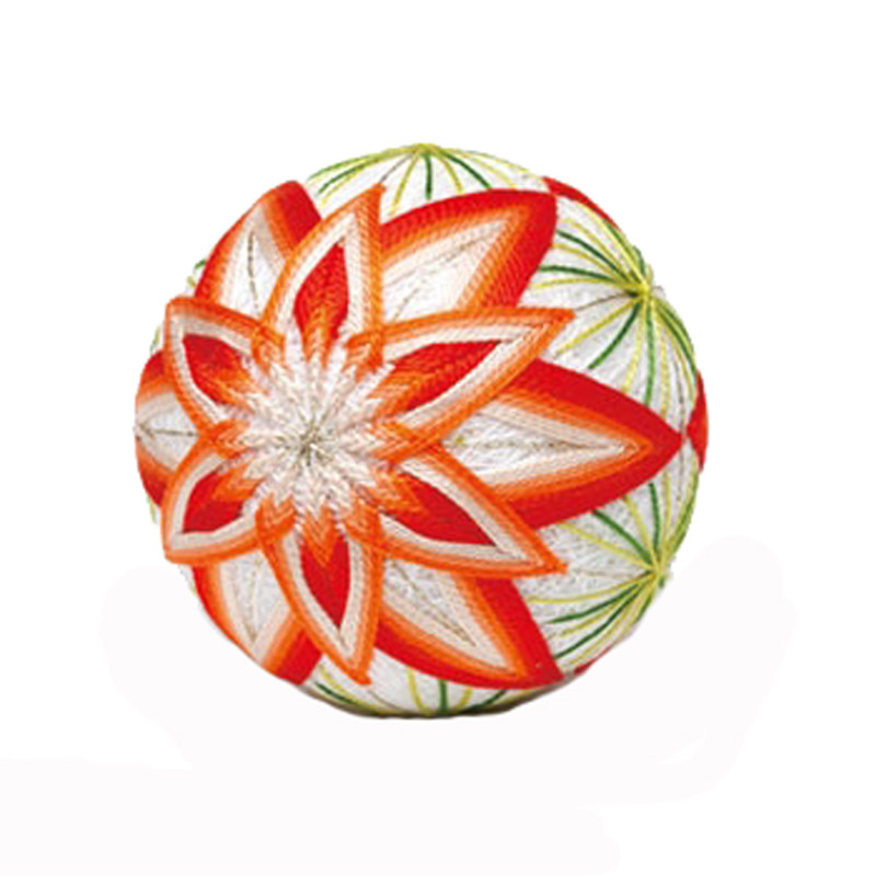Flower Tessellation Single Ball Temari Kit with English Instructions TM-6