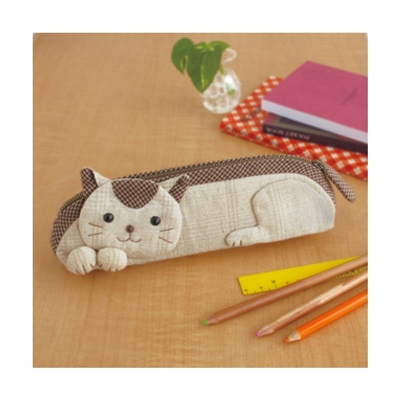 Olympus Patchwork Kit Kitty Pencil Case PA-557