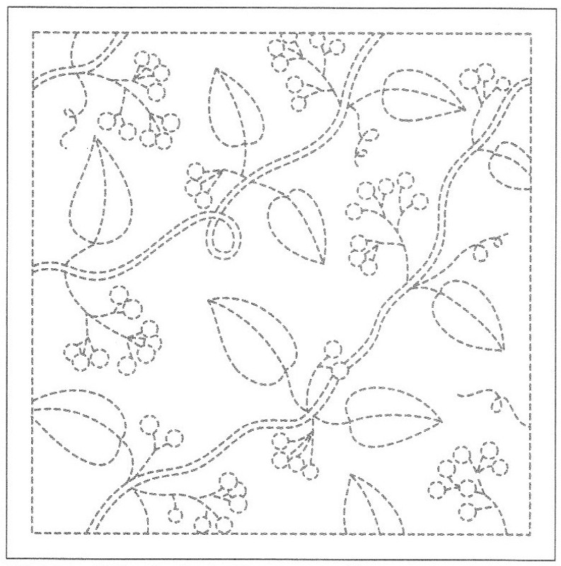 Sashiko Sampler Sashiko Sampler Leaves and Berries SS13/H-213