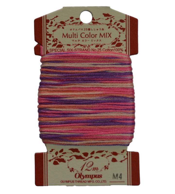 Embroidery Thread Multi-Coloured  12mt ET-M4