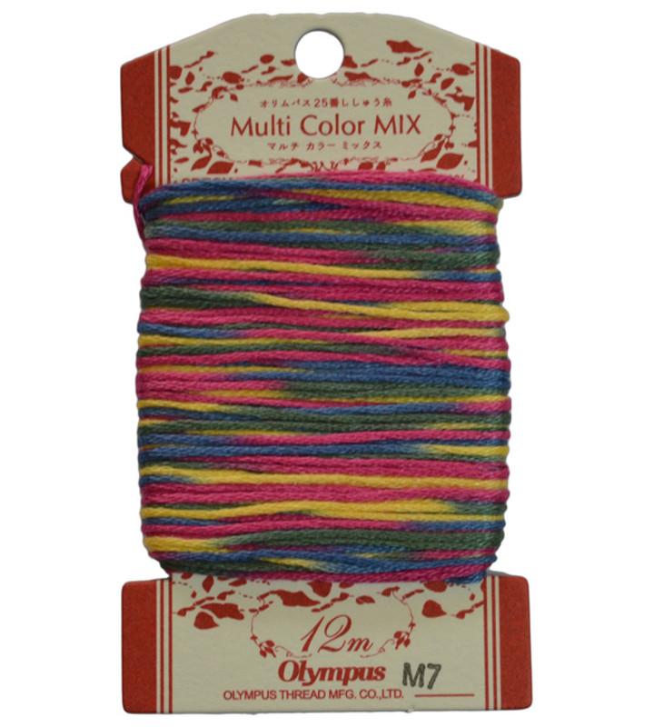Embroidery Thread Multi-Coloured  12mt ET-M7