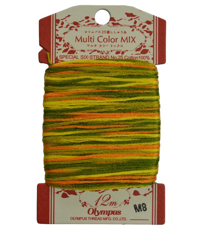 Embroidery Thread Multi-Coloured  12mt ET-M8
