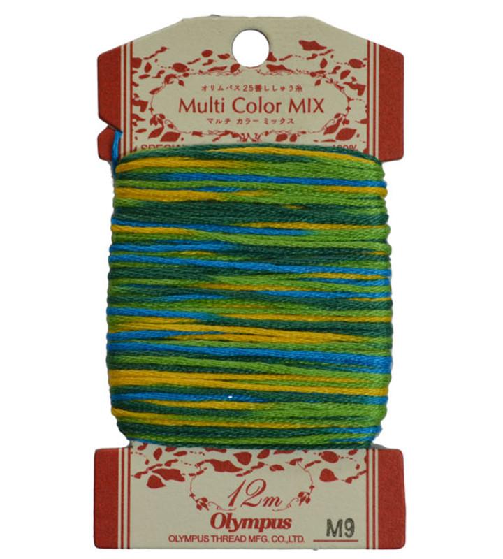 Embroidery Thread Multi-Coloured  12mt ET-M9