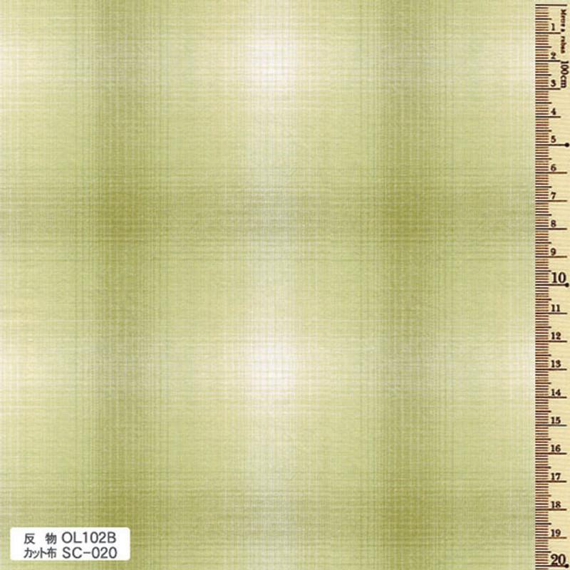 Sakizome Momen Fabric Original 102B Green OL102B
