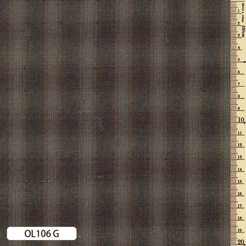Sakizome Momen Fabric Original 106G Dark Brown OL106G
